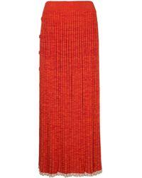 Christopher Esber Button-detail Pleated Knit Maxi Dress - Orange
