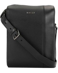 Bally ロゴプレート メッセンジャーバッグ - ブラック