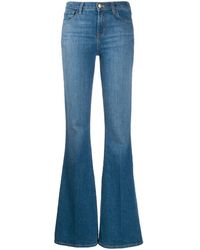 J Brand High-waisted Flared Jeans - Blue