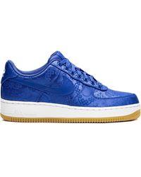 Nike X Clot Air Force 1 'blue Silk' Trainers