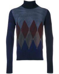 Ballantyne - Argyle Knit Sweater - Lyst