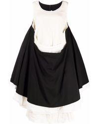 Comme des Garçons バイカラードレス - ブラック