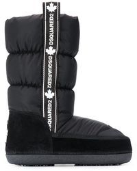 DSquared² Logo-tape Snow Boots - Black