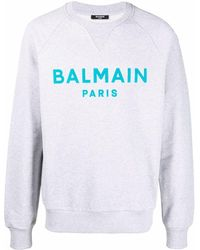 Balmain - Толстовка С Фактурным Логотипом - Lyst