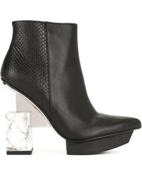 United Nude Cube Heel Ankle Boots - Black