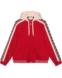 Gucci Technical Jersey Bomber Jacket - Red