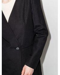 St. Agni Louis Wrap-front Blazer - Black