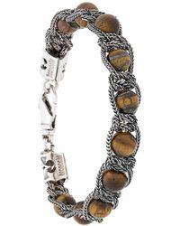 Emanuele Bicocchi Armband mit Perlen - Mettallic