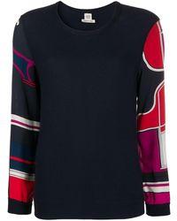 Hermès Джемпер Со Вставками Pre-owned - Синий