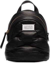 Maison Margiela Glam Slam Leather Mini Backpack - Черный