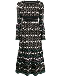 M Missoni Платье Из Джерси - Коричневый