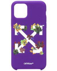 Off-White c/o Virgil Abloh Iphone 11 Pro Arrows-motif Case - Purple
