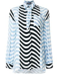 House of Holland   Hypnotic Tie-neck Blouse   Lyst