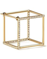 Shihara Diamond Square Earring 15 (03) - Многоцветный