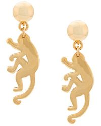 Oscar de la Renta - Small Monkey Earrings - Lyst