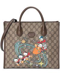 Gucci Сумка-тоут Donald Duck Из Коллаборации С Disney - Коричневый