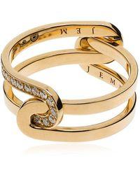 Jem Étreintes Two-piece Ring - Metallic