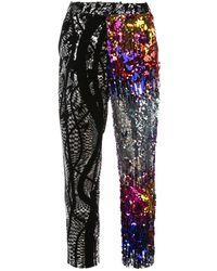Halpern Multi-pattern Sequined Pants - Multicolor