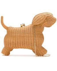 Serpui Dog Shaped Straw Bag - Multicolour