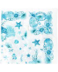 Roberto Cavalli - Frayed Sea Creature Scarf - Lyst