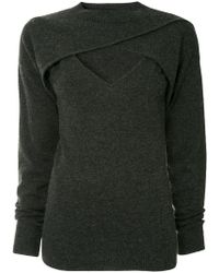 Christopher Esber - Cropped Cross-over Top - Lyst