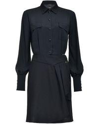 Pinko Belted Shirt Dress - ブラック
