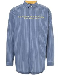 Guild Prime - Bad Vibes Embroidered Striped Shirt - Lyst