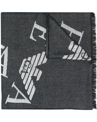 Emporio Armani Gerafelde Sjaal - Zwart