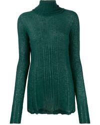 Roberto Collina Ribbed Turtleneck Sweater - Green