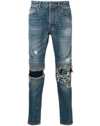 Marcelo Burlon - Biker Slim-fit Jeans - Lyst
