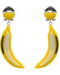 Prada Pop Banana Earrings - Yellow