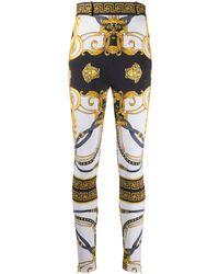 Versace Barocco Rodeo Print Skinny Pants - Black