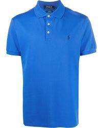 Ralph Lauren Logo Embroidered Polo Shirt - Blue