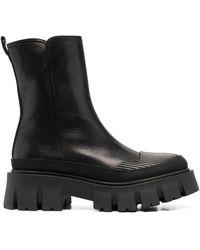 Premiata レザー ブーツ - ブラック