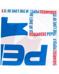 DSquared² Pañuelo con estampado Pepsi - Azul