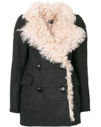 Isabel Marant Berit Shearling Coat - Gray