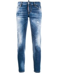 DSquared² Distressed Skinny Jeans - Blue