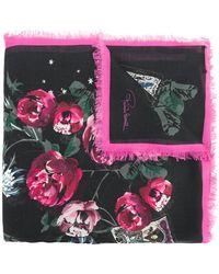 Roberto Cavalli | Floral Fringed Scarf | Lyst