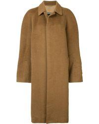 Dior Abrigo con botones - Marrón