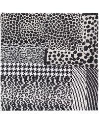 Pierre Louis Mascia Leopard Print Scarf - Black