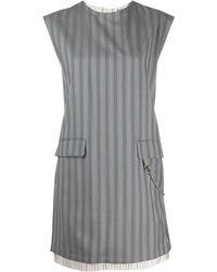Acne Studios Платье В Полоску Без Рукавов - Серый