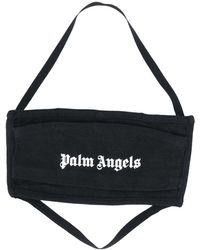 Palm Angels Mascarilla con logo estampado - Negro