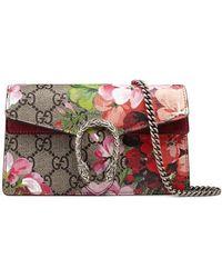 Gucci - Dionysus GG Blooms Super Mini Bag - Lyst