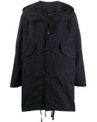 Engineered Garments フーデッド レインコート - ブルー