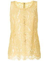 Dolce & Gabbana - ノースリーブ レーストップ - Lyst