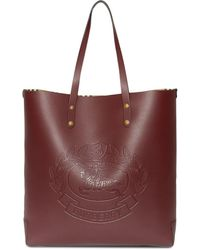 Burberry - Embossed Crest Leather Tote - Lyst