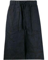 Issey Miyake Short à taille élastiquée - Bleu