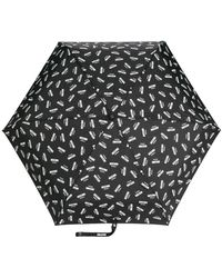 Moschino Parapluie à logo - Noir
