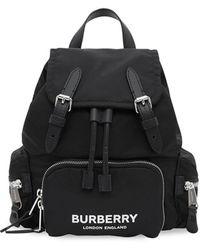 Burberry - Rugzak Met Logoprint - Lyst