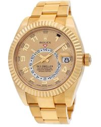 Rolex Champagne 18k Yellow Gold President Day-date 18038 Men's Wristwatch 36mm - Metallic